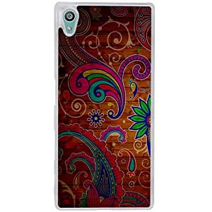 Casotec Wooden Pattern Design 2D Hard Back Case Cover for Sony Xperia Z5 - Clear
