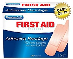 PhysiciansCare First Aid Plastic Bandages, 1\