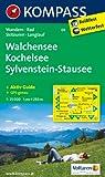 Walchensee - Kochelsee - Sylvenstein-Stausee: Wanderkarte mit Aktiv Guide, Radwegen, Skitouren und Loipen. GPS-genau. 1:25000