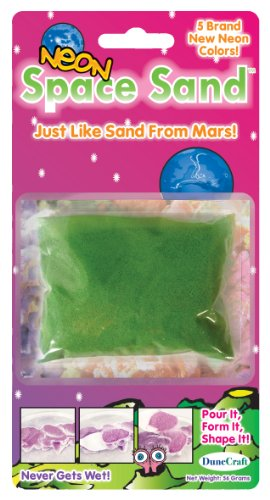 Dunecraft Space Sand - Assorted Neon Colors,Pink, Yellow, Green, Orange, Purple Science Kit - 1