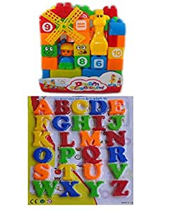 Buy 40 pcsbuilding blocks with magnetic learning alphabet for Buy magnetic alphabet letters