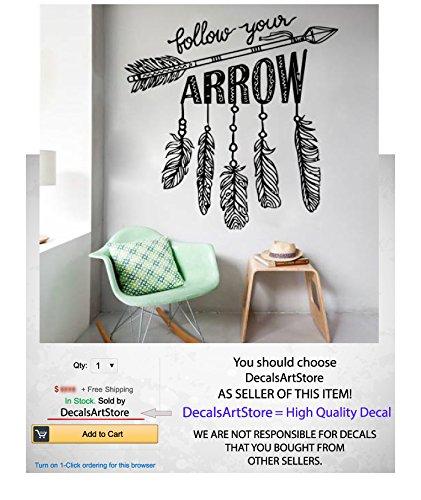 Arrow-Wall-Decal-Namaste-Follow-Your-Arrow-Quote-Vinyl-Decals-Bedroom-Yoga-Studio-Wall-Decor-Bohemian-Bedding-Boho-Decoration-Home-Sticker-Feather-Dreamcatcher-SM144