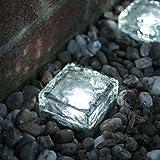 JOE/ Tegole fotovoltaiche di luci giardino di cristallo cubo via gelata