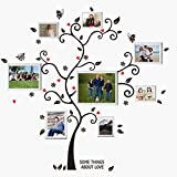 UberLyfe Special Memories Tree Wall Sticker cum 8 Groove White Photo Frames (Wall Covering Area: 115cm x 110cm) - WS-000786