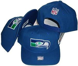 Buy Seattle Seahawks Solid Blue Vintage Deadstock Snapback Cap Hat by Sports Specialties by Reebok