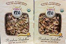 Torino Rainbow Farfalline Mini Pasta 8.8oz (Pack of 2)