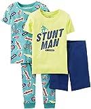 Carters Little Boys' Stunt Man Skateboard 4-piece Pajama Set