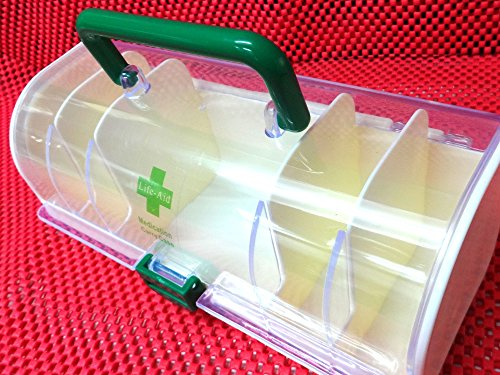 Bulfyss Portable Plastic Medicine Carry Case / Container / Organizer, First  Aid Storage Box - 5 Compartments Partitions