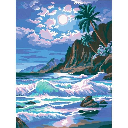 Moonlight Waves Learn-To-Paint - Buy Moonlight Waves Learn-To-Paint - Purchase Moonlight Waves Learn-To-Paint (Dimensions Crafts, Toys & Games,Categories,Arts & Crafts,Craft Kits)