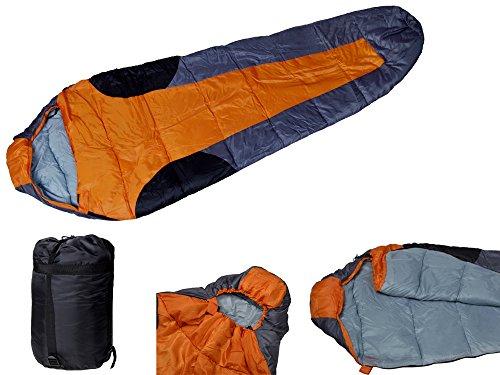 Utdoor Camping Spring Fall 41F/5C Mummy Shaped Sleeping Bag Hiking Hunting Traveling W/Carrying Bag front-689088
