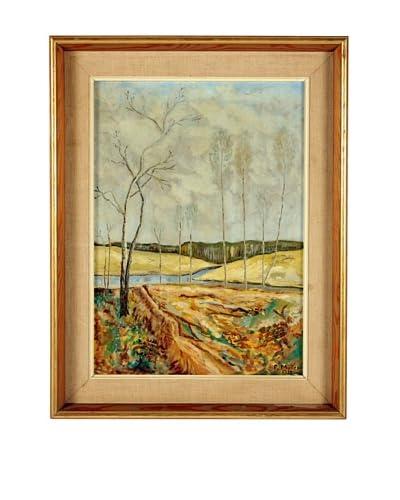 F. Muller Landscape 1938 Framed Artwork, Multi, 23 x 18
