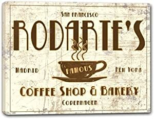 RODARTE'S Coffee Shop & Bakery Stretched Canvas Print