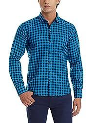 Dennison Men's Casual Shirt (SS-16-420_42_Green)