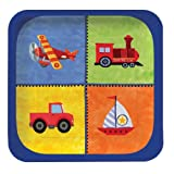 Creative Converting on The Go 8 Count Square Paper Lunch Plates