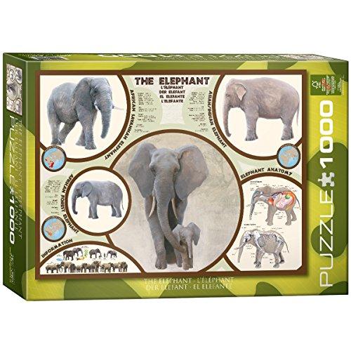 EuroGraphics The Elephant 1000 Piece Puzzle