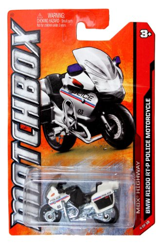Mattel Year 2011 Matchbox MBX Highway Series 1:64 Scale Die Cast Vehicle #4 - BMW R1200 RT-P Police Motorcycle (W4891)