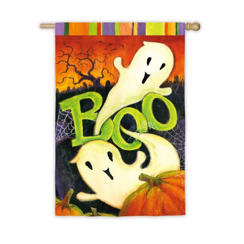 Evergreen Enterprises, Inc. Halloween Welcome Flag Boo Ghosts