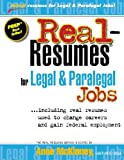 img - for Real-Resumes for Legal & Paralegal Jobs book / textbook / text book