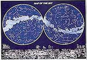 (24x36) Map of the Sky Science Educational Chart Poster
