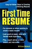 First Time Resume (1580622925) by McNeill, William