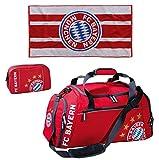 Sport-Set FC Bayern München Sporttasche mit Kulturbeutel und Duschtuch 70
