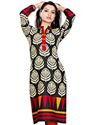 Desi Aura Straight Fit Long Kurtis Printed Straight Fit Kurtis Wear