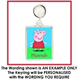 Personalised PEPPA PIG Keyring / Bag Tag - Ideal for School Bags, Lunch Boxes etc.