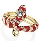 Red Enamel Snake Gold Bangle AJ26843