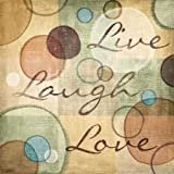 Live Laugh Love by Harbick, N - fine Art Print on PAPER : 33 x 33 Inches