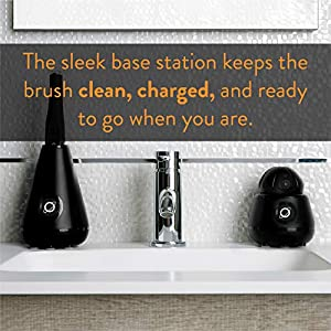 TAO Clean Sonic Toothbrush and Cleaning Station - Deep Space Black - Electric Toothbrush with Patented Docking Technology, Ergonomic Handle, Dual Speed Settings (Color: Deep Space Black)