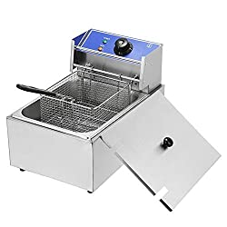 Electric Countertop 10L Deep Fryer Stainless Steel Tank 2500W Commercial Grade Easy For French Fry