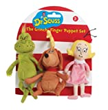 Manhattan Toy Dr. Seuss The Grinch Finger Puppet Set