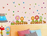 Syga Flower nursery wall stickers A_MSUS