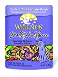 Wellness Healthy Indulgence Chicken, Duck and Shrimp Recipe Cat Food (Pack of 24, 3-Ounce Pouches)