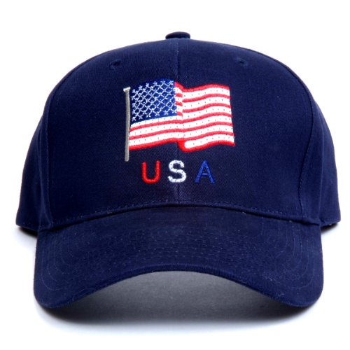 Us Flag Led Light-Up Logo Adjustable Hat