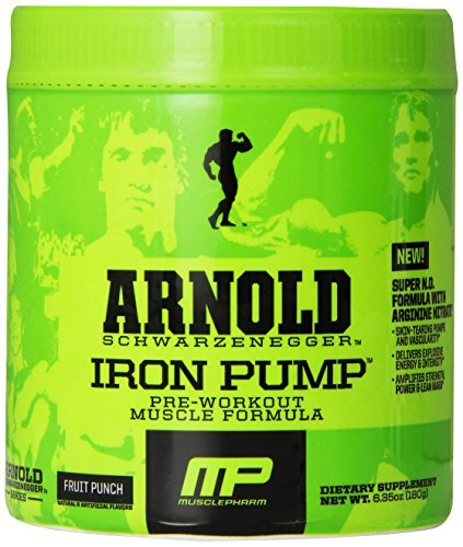 Muscle Pharm Arnold Schwarzenegger Series Iron Pump Pre-Workout Formula, Fruit Punch, 30 servings by Arnold Schwarzenegger Series (Arnold Iron Pump Pre Workout compare prices)