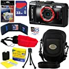 Olympus Stylus Tough TG-2 iHS 12 MP Waterproof Digital Camera with 4x Optical Zoom (Black) + 7pc Bundle 32GB Accessory Kit