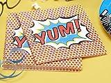 Ginger Ray Paper Napkins - Pop Art Superhero Decorations