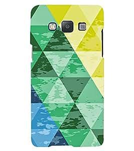 PrintVisa Triangles Pattern 3D Hard Polycarbonate Designer Back Case Cover for Samsung Galaxy E5