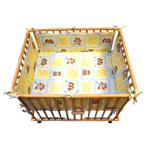 Rectangular playpen insert yellow