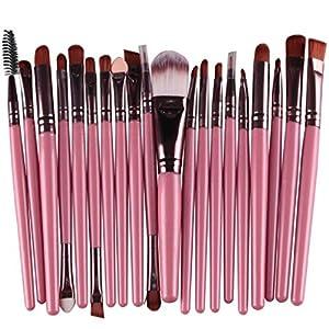 Laimeng, 20 pcs Makeup Brush Set tools Make-up Toiletry Kit Wool Make Up Brush Set (Pink)