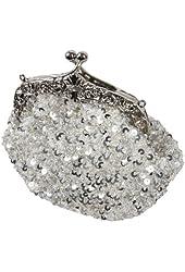 BMC Glamour Elegant Satin Beaded Bridal Sequin Vintage Cocktail Party Handbag