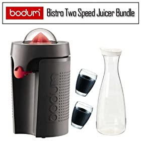 Bodum K1114901US Black Bistro Two Speed Juicer Bundle