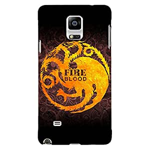Jugaaduu Game Of Thrones GOT House Targaryen Back Cover Case For Samsung Galaxy Note 4