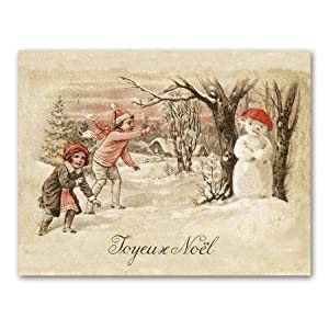 Noel Snowman - Christmas Gift Enclosure Cards (set of 12)