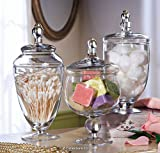 3 Pc Glass Apothecary Jars Set