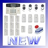 Wireless Home Security Alarm System w/ Auto-Dialer --- Digital Back-Lit LCD Display