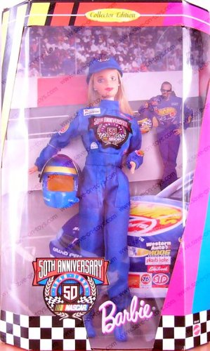 1998 Mattel Collector Edition Nascar 50th Anniversary Barbie Doll - 1