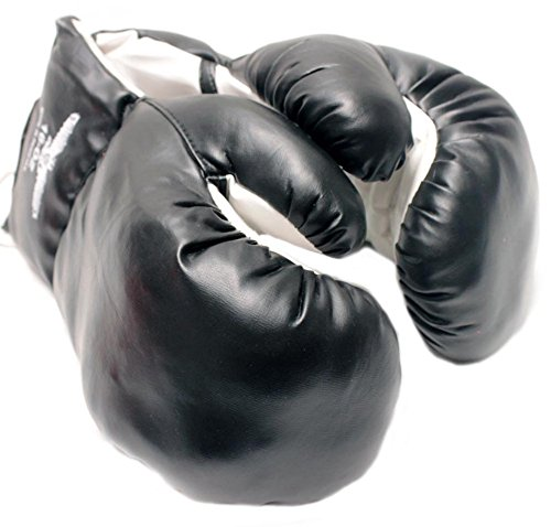 New 1 Pair of Youth Black 6oz Boxing Gloves