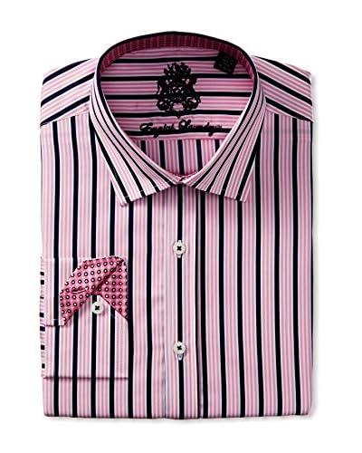 English Laundry Men's Multi Stripe Dress Shirt